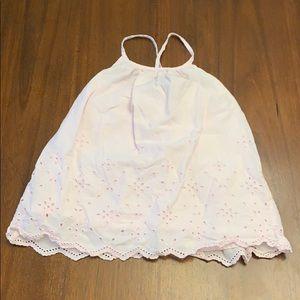 Light pink lace type of design dress